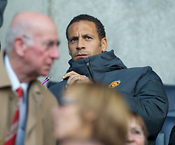BOLTON, ENGLAND - Sunday, September 26, 2010: Manchester United's Rio Ferdinand sits in the director's box before the Premiership match against Bolton Wanderers at the Reebok Stadium. (Photo by David Rawcliffe/Propaganda)