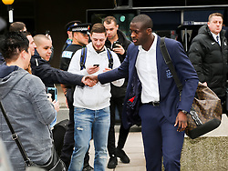 Manchester City's Yaya Toure arrives at Manchester Airport to board the team flight to Barcelona ahead of the UEFA Champions League second leg match against Barcelona - Photo mandatory by-line: Matt McNulty/JMP - Mobile: 07966 386802 - 17/03/2015 - SPORT - Football - Manchester - Manchester Airport - Barcelona v Manchester City - UEFA Champions League