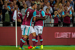 Andy Carroll of West Ham and Pedro Obiang of West Ham during 2nd Leg football match between West Ham United FC and NK Domzale in 3rd Qualifying Round of UEFA Europa league 2016/17 Qualifications, on August 4, 2016 in London, England.  Photo by Ziga Zupan / Sportida