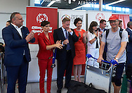 during official welcome of the Special Olympics Poland Team on August 4, 2015 at Okecie Airport in Warsaw, Poland.<br /> Poland, Warsaw, August 4, 2015<br /> <br /> Picture also available in RAW (NEF) or TIFF format on special request.<br /> <br /> For editorial use only. Any commercial or promotional use requires permission.<br /> <br /> Adam Nurkiewicz declares that he has no rights to the image of people at the photographs of his authorship.<br /> <br /> Mandatory credit:<br /> Photo by © Adam Nurkiewicz / Mediasport