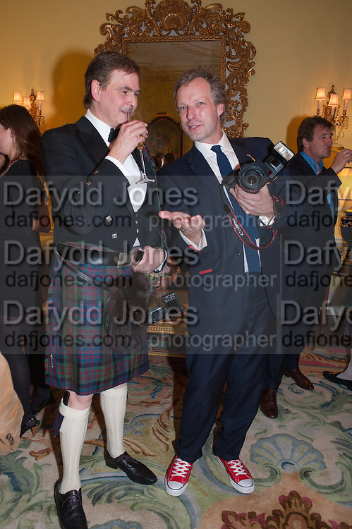 JOCELYN BAIN HOGG; HUGO BURNAND, Tatler magazine Jubilee party with Thomas Pink. The Ritz, Piccadilly. London. 2 May 2012