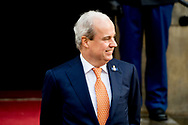 16-1-2018 AMSTERDAM - King Willem-Alexander and Queen Maxima hold Tuesday, January 16th, 2018 the traditional New Year Reception for Dutch guests. The receptions are held in the Royal Palace in Amsterdam. Both receipts Royal Highnesses Princess Beatrix and Princess Margriet of the Netherlands and Professor Pieter van Vollenhoven present. COPYRIGHT ROBIN UTRECHT