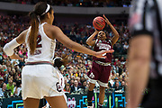 Mississippi State Lady Bulldogs guard Morgan William #2 shoots the ball against the South Carolina Gamecocks during the NCAA Women's Championship game at the American Airlines Center in Dallas, Texas on April 2, 2017.  (Cooper Neill for The Players Tribune)