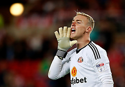 Jason Steele of Sunderland shouts - Mandatory by-line: Matt McNulty/JMP - 04/08/2017 - FOOTBALL - Stadium of Light - Sunderland, England - Sunderland v Derby County - Sky Bet Championship