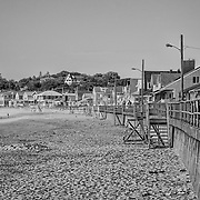 I suspect that this view hasn't changed in over thirty years.  The long view down the seawall just seems to keep going, but never changing.  The black and white treatment helps to create the timeless feel.