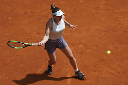 May 7, 2019 - Madrid, Spain - Simona Halep of The Romania against during day three of the Mutua Madrid Open at La Caja Magica on May 07, 2019 in Madrid, Spain. (Credit Image: © Oscar Gonzalez/NurPhoto via ZUMA Press)