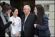 HELENA RIZZO; ELENA ARZAK; JUAN MARI ARZAK; LANSHU CHEN;, Veuve Clicquot World's Best Female chef champagne tea party. Halkin Hotel. Halkin St. London SW1. 28 April 2014.