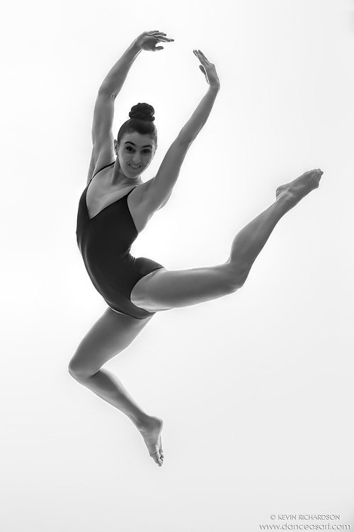 Black and white dance photography-Leap  -featuring Dance As Art dancer Darielle Loprete