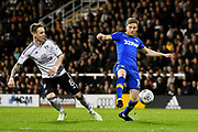 Eunan O'Kane (14) of Leeds United during the EFL Sky Bet Championship match between Fulham and Leeds United at Craven Cottage, London, England on 3 April 2018. Picture by Graham Hunt.