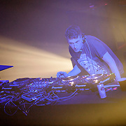 March 28, 2012 - New York, NY : British dubstep music producers (DJ's) Skream (pictured here) & Benga (not pictured) perform at the Best Buy Theater in Manhattan on Wednesday evening. CREDIT: Karsten Moran for The New York Times