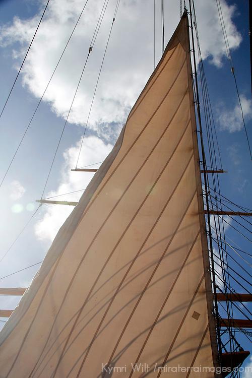 USA, California, San Diego. Star of India Sailing Ship, at the San Diego Maritime Museum.