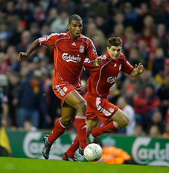 LIVERPOOL, ENGLAND - Saturday, January 26, 2008: Liverpool's Ryan Babel and captain Steven Gerrard MBE in action against Havant and Waterlooville during the FA Cup 4th Round match at Anfield. (Photo by David Rawcliffe/Propaganda)