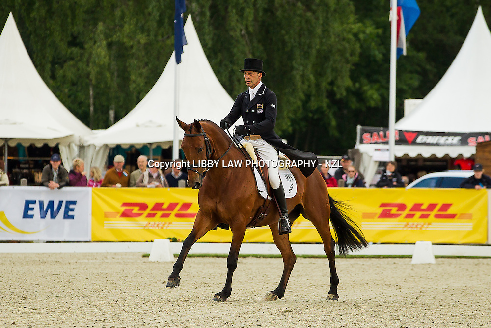 NZL-Andrew Nicholson (QWANZA) CCI4* Dressage: INTERIM-20TH: 2013 GER-DHL Luhmühlen International Horse Trial (Friday 14 June) CREDIT: Libby Law  COPYRIGHT: LIBBY LAW PHOTOGRAPHY - NZL