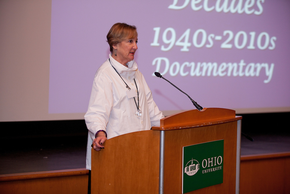 Peggy Viehweger at Women in Philanthropy of Ohio University documentary premier at Baker Center Theater on November 6, 2013.