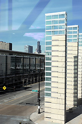 08 February 2012:  Chicago Skyline from McCormick Place looking north up MLK Drive....This image is a High Dynamic Range illustration utilizing a stack of three images.