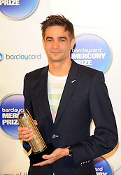 Mercury Prize. <br /> JON HOPKINS attends the Barclaycard Mercury Prize at The Roundhouse, London, United Kingdom. Wednesday, 30th October 2013. Picture by i-Images