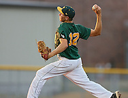 West pitcher Kellen Yoder (12) delivers to the plate during their substate baseball game at Iowa City West High School in Iowa City on Friday evening, July 13, 2012. West defeated Washington 6-0.
