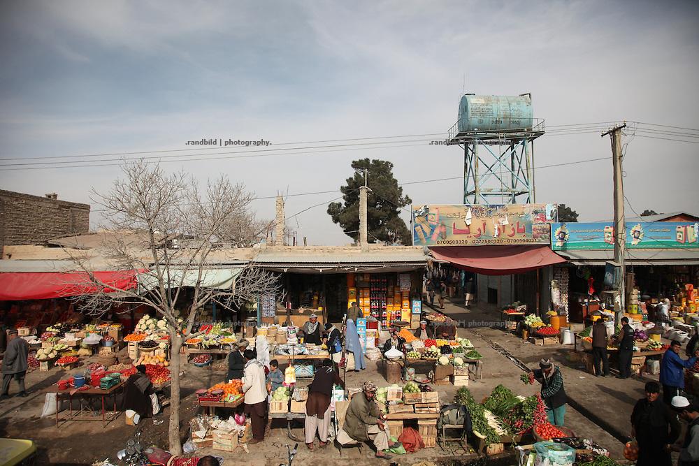 A Market scene in Mazar-e Sharif.