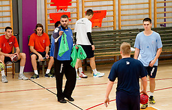during practice session of Slovenian Handball Men National Team, on November 4, 2011, in Zrece, Slovenia.  (Photo by Vid Ponikvar / Sportida)
