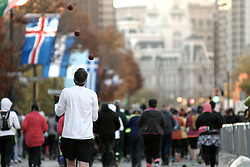 Start of the 2016 Philadelphia Marathon, in Center City Philadelphia, PA.<br /> <br /> With the city of Philadelphia taking over organization the course, as well as start and finish locations are slightly different from past years. The winners for 2016 are, in the Mens race, Kimutai Cheruiyot in 2:15:53, and Taylor Ward in the Womens race in 2:36:25