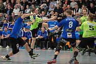 HÅNDBOLD: under kampen i Herre Håndbold Ligaen mellem Nordsjælland Håndbold og Ribe-Esbjerg HH den 4. marts 2019 i Frederiksborgcenteret i Hillerød. Foto: Claus Birch.