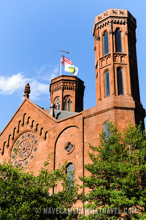 Historic Smithsonian Castle of the Smithsonian Institution in Washington DC.