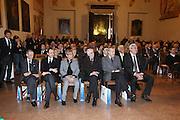 """BOLOGNA, 22/02/2009<br /> FEDERAZIONE ITALIANA PALLACANESTRO PREMIO <br /> PREMIO """"ITALIA BASKET HALL OF FAME""""<br /> NELLA FOTO ALDO VITALE ETTORE MESSINA NIDIA PAUSICH GIANCARLO VITOLO ALDO OSSOLA OTTORINO FLABOREA"""
