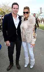 Katie Price and husband Kieran Hayler arriving at the opening day of the Cheltenham Festival, United Kingdom, Tuesday, 11th March 2014. Picture by Stephen Lock / i-Images<br />