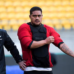 NZ's Ofa Tuungafasi. All Blacks training at Westpac Stadium in Wellington, New Zealand on Thursday, 14 June 2018. Photo: Dave Lintott / lintottphoto.co.nz