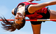 Norman County's Miki Lee clears the high jump bar during the Section 8A Track and Field Championship at the Johnson Sports Complex in Ada, Minn., on Saturday. Lee placed first in the event with a cleared height of 5 feet, 3 inches.