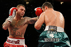 February 21, 2009; New York, NY;  John Duddy and Matt Vanda trade punches during their 10 round bout at Madison Square Garden.  Duddy won via unanimous decision.