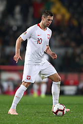 November 20, 2018 - Guimaraes, Guimaraes, Portugal - Grzegorz Krychowiak midfielder of Poland in action during the UEFA Nations League football match between Portugal and Poland at the Dao Afonso Henriques stadium in Guimaraes on November 20, 2018. (Credit Image: © Dpi/NurPhoto via ZUMA Press)