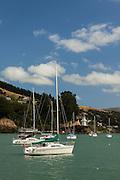 Boats and Yachts docked at Akaroa, New Zealand