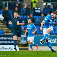 St Johnstone v Ross County....29.11.14   Scottish Cup 4th Round<br /> James McFadden scores saints second goal<br /> Picture by Graeme Hart.<br /> Copyright Perthshire Picture Agency<br /> Tel: 01738 623350  Mobile: 07990 594431