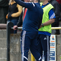 Picture by Christian Cooksey/CookseyPix.com.<br /> All rights reserved. For full terms and conditions see www.cookseypix.com<br /> <br /> Juniors - Auchinleck Talbot v Glenafton Athletic. Glenafton manager Craig McEwan points something out to Assistant manager Craig Potter