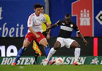FUSSBALL   1. BUNDESLIGA    SAISON 2012/2013    8. Spieltag   Hamburger SV - VfB Stuttgart            21.10.2012 Heung Min Son (li, Hamburger SV)  gegen Arthur Etienne Boka (re, VfB Stuttgart)