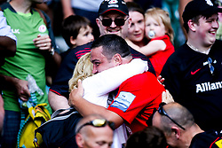 Jamie George of Saracens celebrates after winning in the Premiership Rugby Final against Exeter Chiefs - Mandatory by-line: Robbie Stephenson/JMP - 01/06/2019 - RUGBY - Twickenham Stadium - London, England - Exeter Chiefs v Saracens - Gallagher Premiership Rugby Final