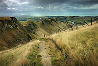 Richard Furhoff 100101_NewZealand_DSC3774_v2.tif.Pathway, TeMata Peak, Looking North East Over Hawkes Bay, New Zealand.