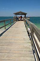 Fishing pier Sanibel Island Florida USA