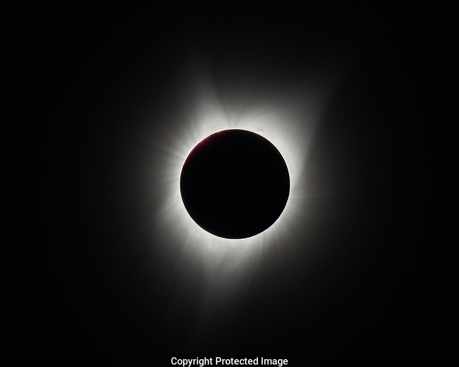 Total Solar Eclipse as seen at the Oregon Trail Interpretive Center near Baker City Oregon, Monday, Aug. 21, 2017. (Photo/John Froschauer)