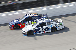 August 12, 2018 - Brooklyn, Michigan, United States of America - Kyle Larson (42) and Alex Bowman (88) battle for position during the Consumers Energy 400 at Michigan International Speedway in Brooklyn, Michigan. (Credit Image: © Chris Owens Asp Inc/ASP via ZUMA Wire)
