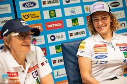 Darja Crnko and Ilka Stuhec during presentation of new alpine ski team of Ilka Stuhec before new season 2019/20, on June 10, 2019 in Telekom Slovenije, Ljubljana, Slovenia. Photo by Vid Ponikvar / Sportida