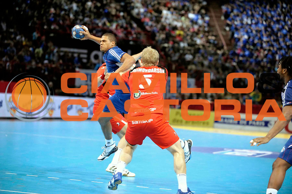 DESCRIZIONE : France Tournoi international Paris Bercy Equipe de France Homme France Islande 17/01/2010<br /> GIOCATORE : Narcisse Daniel<br /> SQUADRA : France<br /> EVENTO : Tournoi international Paris Bercy<br /> GARA : France Islande<br /> DATA : 17/01/2010<br /> CATEGORIA : Handball France Homme Action<br /> SPORT : HandBall<br /> AUTORE : JF Molliere par Agenzia Ciamillo-Castoria <br /> Galleria : France Hand Homme 2009/2010 <br /> Fotonotizia : France Tournoi international Paris Bercy Equipe de France Homme France Islande 17/01/2010 <br /> Predefinita :