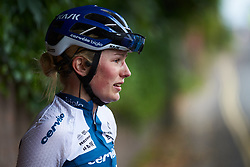 Lotta Lepistö (FIN) catches her breath after her second place finish at OVO Energy Women's Tour 2018 - Stage 4, a 130 km road race from Evesham to Worcester, United Kingdom on June 16, 2018. Photo by Sean Robinson/velofocus.com