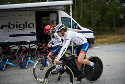 Cecilie Uttrup Ludwig (DEN) at Ladies Tour of Norway 2018 Team Time Trial, a 24 km team time trial from Aremark to Halden, Norway on August 16, 2018. Photo by Sean Robinson/velofocus.com