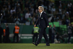 April 18, 2018 - Lisbon, Portugal - Sporting's coach Jorge Jesus leaves the pitch after the victory of his team on Portuguese Cup 2017/18 match between Sporting CP vs FC Porto, in Lisbon, on April 18, 2018. (Credit Image: © Carlos Palma/NurPhoto via ZUMA Press)