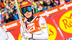 29.01.2017, Casino Arena, Seefeld, AUT, FIS Weltcup Nordische Kombination, Seefeld Triple, Skisprung, im Bild Mario Seidl (AUT) // Mario Seidl of Austria reacts after his Competition Jump of Skijumping of the FIS Nordic Combined World Cup Seefeld Triple at the Casino Arena in Seefeld, Austria on 2017/01/29. EXPA Pictures © 2017, PhotoCredit: EXPA/ JFK