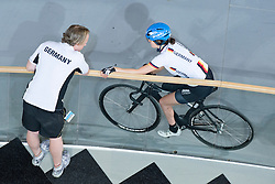 Rooftop View During Training, , Training for Pursuit Finals , 2015 UCI Para-Cycling Track World Championships, Apeldoorn, Netherlands