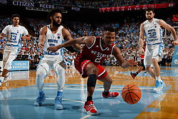 CHAPEL HILL, NC - JANUARY 27: Torin Dorn #2 of the North Carolina State Wolfpack plays against the North Carolina Tar Heels on January 27, 2018 at the Dean Smith Center in Chapel Hill, North Carolina. North Carolina lost 95-91. (Photo by Peyton Williams/UNC/Getty Images) *** Local Caption *** Torin Dorn