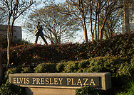Elvis Presley Plaza in Memphis TN located at  Main and Beale Street